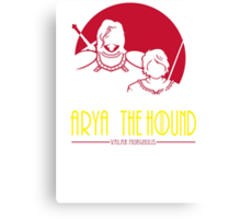 Arya & The Hound Canvas Print
