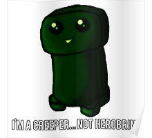 ¿Creeper... or Herobrine? Art Poster