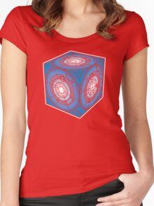 "Tardis ""Siege Mod"" Blue - Doctor Who Women's Fitted Scoop T-Shirt"
