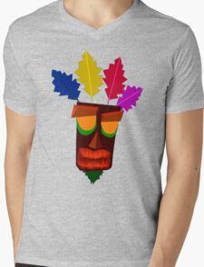 Aku Aku Remastered Mens V-Neck T-Shirt