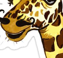 Giraffe with moustache Sticker