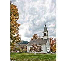 Shelburne Village Church Photographic Print