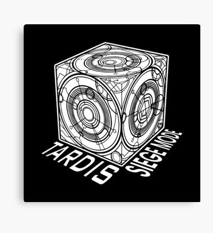 "Tardis ""Siege Mod"" Title - Doctor Who Canvas Print"
