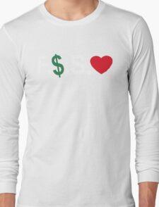Fuck Money Spread Love [White] Long Sleeve T-Shirt