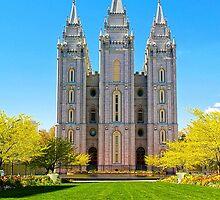 Salt Lake LDS Temple by Skip Weeks