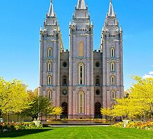 Salt Lake LDS Temple by Skip Weeks