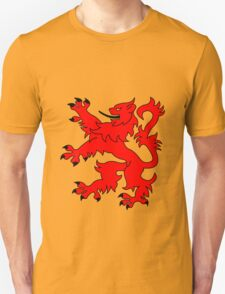 Rampant Lion Red Unisex T-Shirt