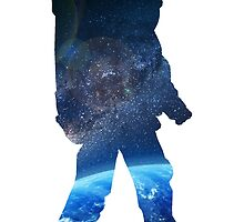 Space Man  - Astronaut Abstract by pithypenny