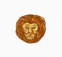 Lion Head Woodcut Linocut Unisex T-Shirt