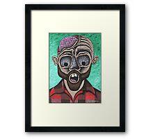 Zombie Lumberjack Framed Print