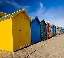 Beach Huts by Steve Green