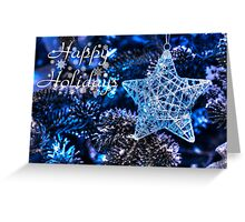 Blue Christmas - Happy Holidays Greeting Card