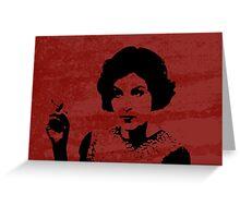 Twin Peaks - Audrey Horne Greeting Card