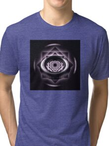 Black & White Reflection Ring Pattern Tri-blend T-Shirt
