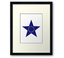 Europe EU star flag Framed Print