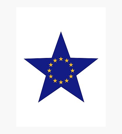 Europe EU star flag Photographic Print