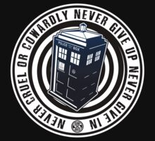 Never Cruel Or Cowardly - Doctor Who - Blue TARDIS by createdezign