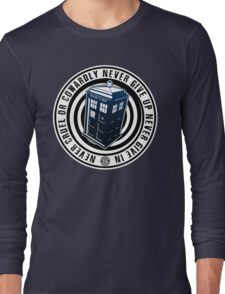Never Cruel Or Cowardly - Doctor Who - Blue TARDIS Long Sleeve T-Shirt