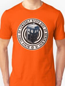 Never Cruel Or Cowardly - Doctor Who - Blue TARDIS Unisex T-Shirt