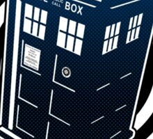 Never Cruel Or Cowardly - Doctor Who - Blue TARDIS Sticker