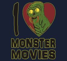 I Love Monster Movies Kids Clothes