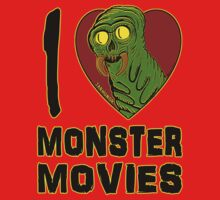 I Love Monster Movies One Piece - Long Sleeve