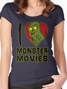 I Love Monster Movies Women's Fitted Scoop T-Shirt