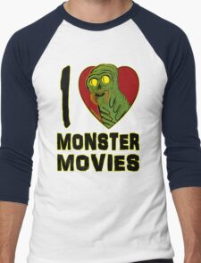 I Love Monster Movies Men's Baseball ¾ T-Shirt