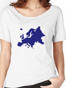 Europe map Women's Relaxed Fit T-Shirt