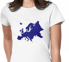 Europe map Womens Fitted T-Shirt