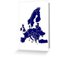 Europe Map Greeting Card