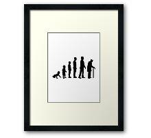 Evolution grandfather Framed Print