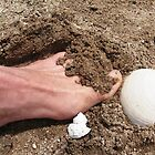 toes in the sand by WhiteDove Studio kj gordon