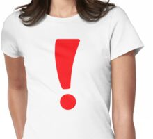 Red exclamation point Womens Fitted T-Shirt