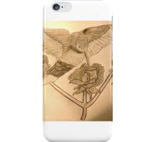 Humming bird & Roses iPhone Case/Skin
