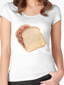 Peanut Butter and Jelly Sandwich Women's Fitted Scoop T-Shirt