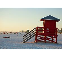 red guardhouse  Photographic Print