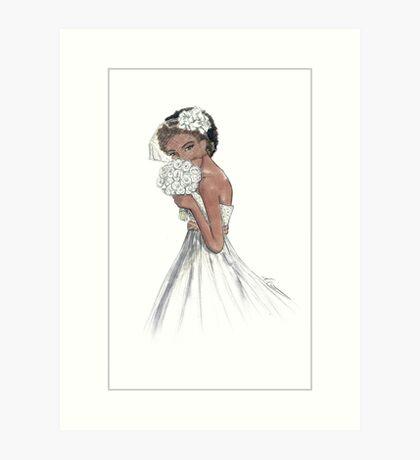 Blushing Bride Mia Art Print