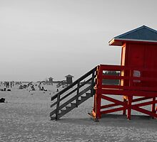 red guardhouse black and white by yaxno3