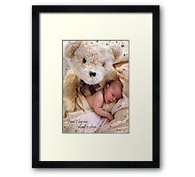 Teddy Bear Dreams Framed Print