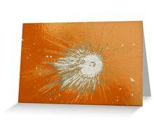 Impact #2 - Orange Greeting Card