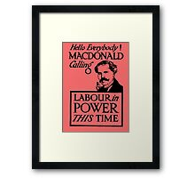 1923 ELECTIONS- LABOUR Framed Print