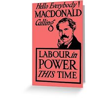 1923 ELECTIONS- LABOUR Greeting Card