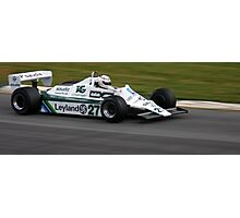 Alan Jones F1 Photographic Print