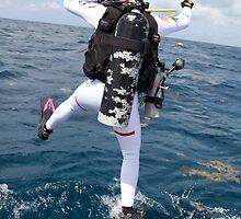 Scuba Diver Jump by BravuraMedia