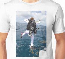 Scuba Diver Jump Unisex T-Shirt