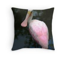 Roseate Spoonbill  142 Views Throw Pillow