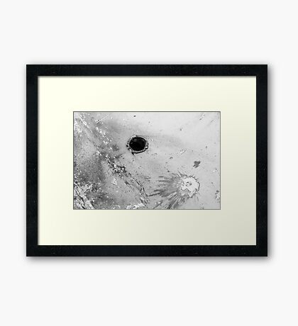 Impact #3 - Black & White Framed Print