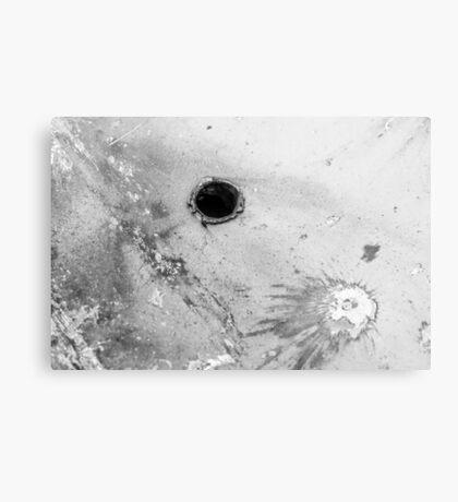 Impact #3 - Black & White Canvas Print