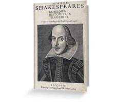 William Shakespeare Portrait Greeting Card